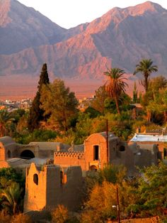 Iraj village in desert Iran, Esfahan http://666travel.com/top-tourist-attractions/top-tourist-attractions-in-iran/