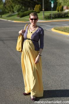 Maternity maxi dress.
