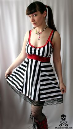 Highwire Act striped circus dress from Smarmy Clothes