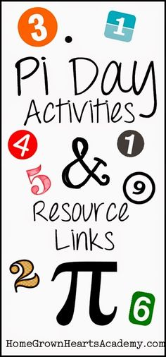 Educational Pi Day activities and resources Homeschool High School, Homeschool Math, Elementary Schools, Homeschooling, Special Education Classroom, Math Classroom, Classroom Ideas, Math Teacher, Teaching Math