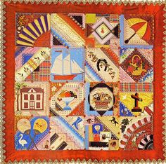 Pieced & Embroidered Quilt Crazy 1890 New Jersey photo by SurrendrDorothy, via Flickr