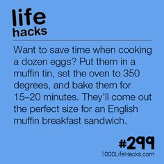 Cook A Dozen Eggs At Once for English muffins