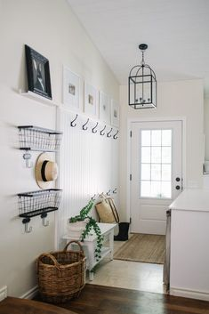 Upgrade A Small Entryway  How To Stay Organized Without A Mudroom, designing small entryway, builder grade entryway, organization without a mudroom, how to keep your front hall organized, small mudroom tips, staying organized when you don't have a mudroom, no mudroom organization, no mudroom tips, organize your mudroom, organization tips for mudroom, clutter free small entryway, clutter free mudroom #mudroom #entryway #smallentryway #nomudroomhacks #stayorganizedwithoutamudroom…