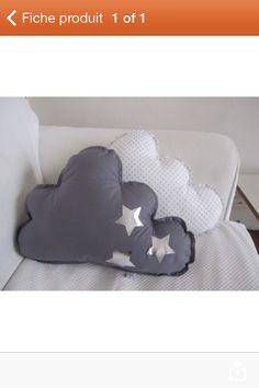 Coussin nuage tissu etoile