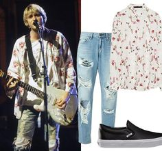 Come as You Are: A Sartorial Tribute to Kurt Cobain from InStyle.com