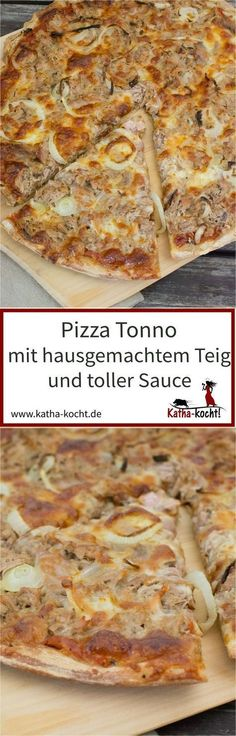 Pizza Tonno, auch bekannt als die klassische Thunfisch Pizza ist ganz schnell ge… Pizza Tonno, also known as the classic tuna pizza, is made very quickly. With homemade dough and great sauce, it is never boring! The recipe is available on katha-kocht! Pizza Taco, Burgers Pizza, Tuna Pizza, Pizza Hut, Pizza Dough, Pizza Recipes, Mexican Food Recipes, Snack Recipes, Whole Wheat Pizza