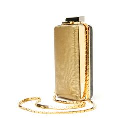 Lanvin Gold Box Clutch (14.890 VEF) ❤ liked on Polyvore featuring bags, handbags, clutches, bolsa, purses, chain purse, multi color purse, multi colored clutches, gold handbag and gold minaudiere