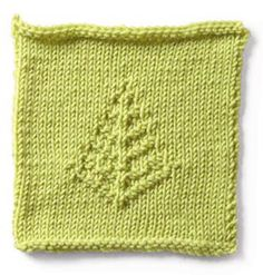 Makes a lovely washcloth, and am working on a scarf pattern incorporating this tree.