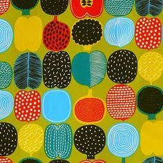 Amazon.co.jp | marimekko(マリメッコ) カットクロス 約68×50cm KOMPOTTI(コンポッティ) グリーン | ホビー 通販