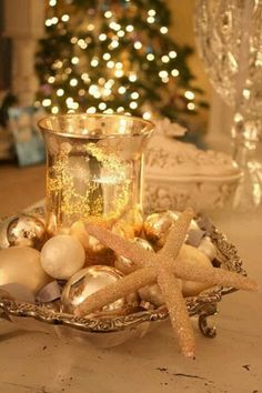 White and gold Christmas