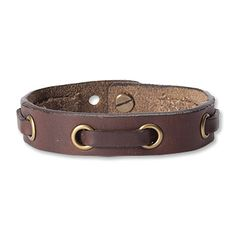 Leather Bracelets for Men | ... style to your outfit with our leather nautical bracelet for men