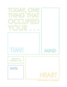 Printable Journal Prompt by Christie Zimmer. What are you up to today? #journal #printable
