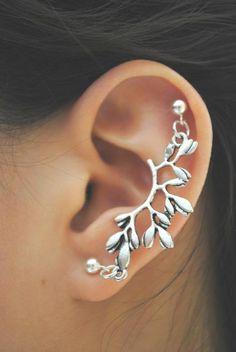 ear piercing. a branch