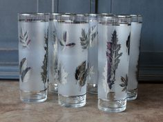 Hey, I found this really awesome Etsy listing at https://www.etsy.com/listing/211550895/vintage-silver-leaf-frosted-ice-tea