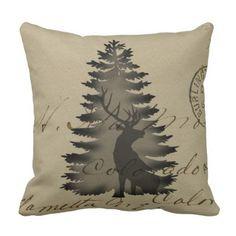 3D Envelope-Paper-Texture 'Deer' Throw Pillow - white gifts elegant diy gift ideas