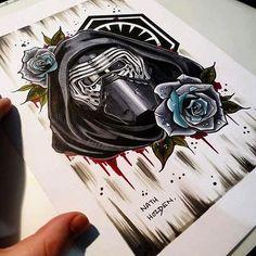 Killer Kylo Ren artwork by @nath_holden!