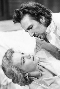 Alan Rickman and Juliet Stevenson in Les Liaisons Dangereuses, 1986