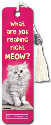 Reading Right Meow - Beaded Bookmark