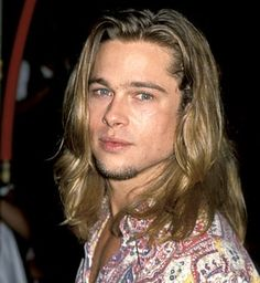 At the True Romance premiere in September 1993, Pitt's blonde locks were long and tousled.