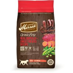 Merrick Grain Free Real Texas Beef Sweet Potato Recipe Dry Dog Food -- You can find more details by visiting the image link. Best Dog Food, Best Food Ever, Dry Dog Food, Cat Food, Grain Free Dog Food, Free Food, Whole Food Recipes, Dog Food Recipes, Free Recipes