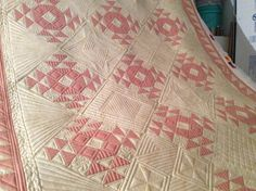Crown of Thorns quilt hot off the quilt machine!