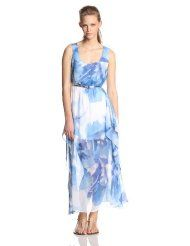 Calvin Klein Women's Sleeveless Printed-Chiffon Maxi Dress  http://thestyletown.com/dresses/dresses_casual