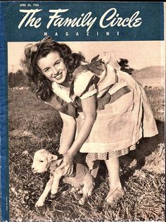 1946 Marilyn Monroe Cover A young Norma Jeane on the cover of the 1946 Family Circle Magazine.
