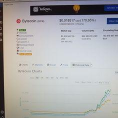 #BYTECOIN išiel o viac ako #200% hore a to vďaka pridaniu meny na zmenáreň #BINANCE.COM všetkým čo túto menu držali tak ako ja #blahoželám :D
