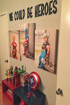 Super heroes bedroom