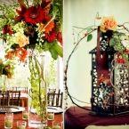 Cedarwood Countryside Wedding Floral Centerpieces