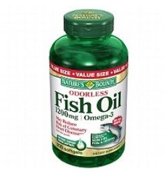 Nature's Bounty Odorless Fish Oil With Omega-3 - 60 Softgels - Fish Oil - General Health - Health & Fitness