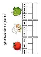 actividades Pon las sílabas en orden 5