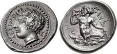The coin, which was once part of the esteemed Moretti and Pennisi Collections, originates from Naxos, a city in ancient Sicily