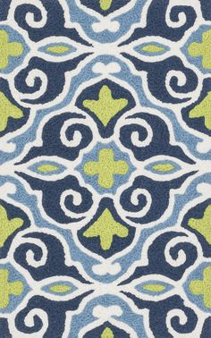 Angelou HAN 15 Blue / Green Rug
