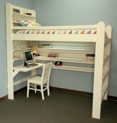 20 Loft Beds With Desks To Save Kid's Room Space | Kidsomania
