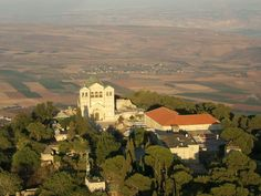 Mt Tabor, not far from #Nazareth, is believed to be the site of the Transfiguration of Christ.