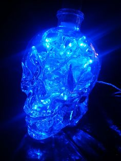 Upcycled Crystal Head Vodka Glass Skull Lamp by AfterGlowsByStacey, £43.00