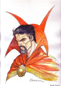 Doctor Strange by Brandon Peterson Comic Art Hq Marvel, Marvel Comics Art, Marvel Comic Books, Comic Book Heroes, Marvel Heroes, Comic Books Art, Comic Art, Marvel Doctor Strange, Dr Strange