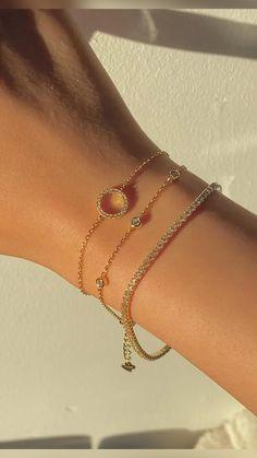 Wedding Bracelet, Wedding Jewelry, Sterling Silver Jewelry, Gold Jewelry, Silver Bracelet For Girls, Accesorios Casual, Pendant Design, Cute Jewelry, Ring Designs