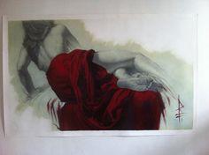 """Donna con drappo rosso"" by Riccardo Federici, Riccardo Federici on ArtStation…"