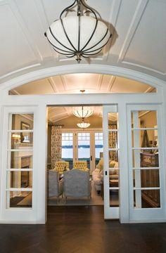 Interior Sliding French Doors stationary built-in french door panels (french doors used as