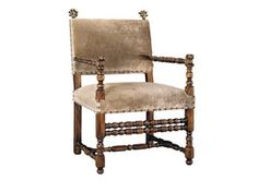 Farnese Chair  Rustic  Folk, Upholstery  Fabric, Wood, Armchair by Alfonso Marina