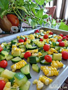 How to blanch and freeze summer veggies.  Love the idea of cutting up the corn like that!