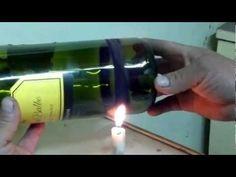 como cortar botellas de vidrio version mejorada - YouTube
