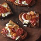 Try the Toasted Bread with Caramelized Tomatoes and Ricotta Recipe on williams-sonoma.com/