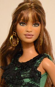 Bond is a full repaint customized BB Ken doll. He is wearing handmade clothes. Beautiful Barbie Dolls, Pretty Dolls, Barbie Hair, Barbie Clothes, Custom Barbie, Barbies Pics, Black Baby Dolls, Barbie Fashionista, Black Barbie