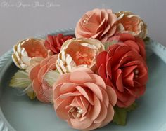 Corsages Boutonnieres Paper Flowers by morepaperthanshoes