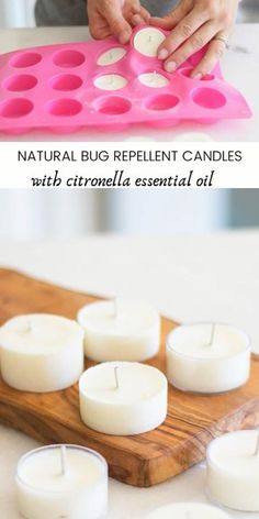 Use these homemade citronella candles to help repel mosquitos and other insects naturally on beautiful summer nights. Making your own bug repellent candles is easy, cost-effective, and they actually work! #cintronella #diycandles #bugrepellent #naturalcandles #bugcandles #homemadecandles Homemade Candles, Diy Candles, Home Candles, Homemade Candle Holders, Outdoor Candles, Mason Jar Candles, Citronella Essential Oil, Essential Oil Candles, Essential Oils