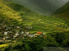 Philippines cool shot of rice terraces