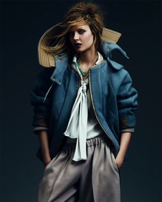 Josephine Skriver Shows Off Fall's Key Trends in How to Spend It by Andrew Yee